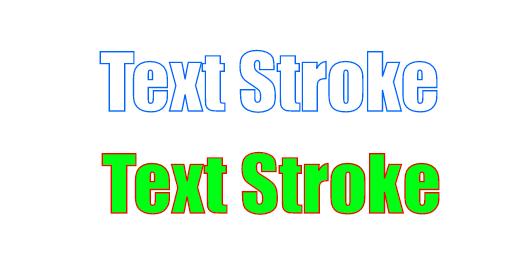 Resultado de imagen de text stroke ejemplo